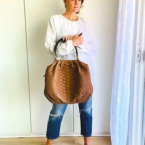 Designer Ermanno Scervino Quilted Shoulder Bag